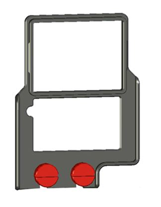"Bild von Z-Finder 3"" Mounting Frame for Tall DSLR Bodies"