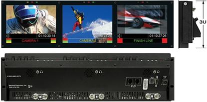 Picture of V-R653-IMD-TE Triple 6.5' HD Rack Mountable LCD with built in IMD Function